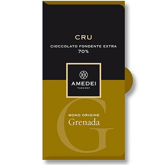 Amedei Chocolate Grenada Cru 70% Dark Chocolate Bar