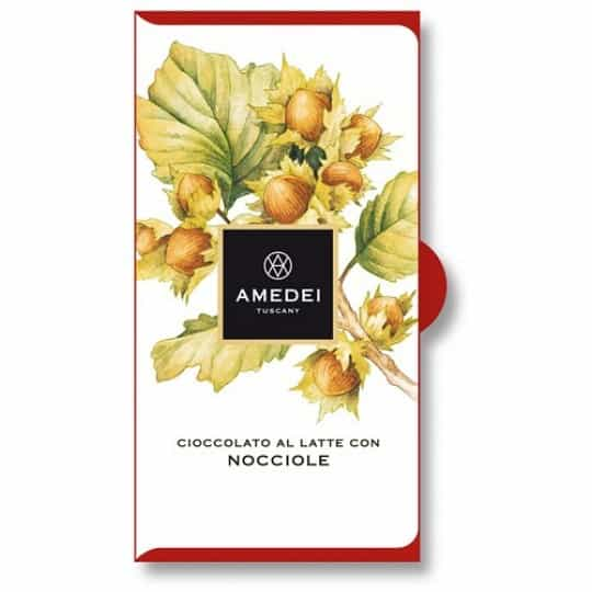 Amedei Toscano Brown with Hazelnuts Chocolate Bar
