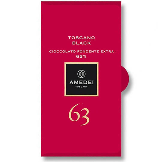 Amedei Toscano Black 63% La Tavoletta Dark Chocolate Bar
