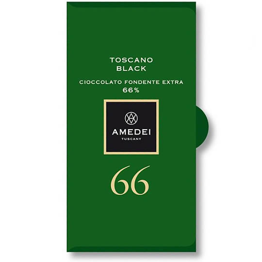 Amedei Toscano Black 66% Cocoa Dark Chocolate Bar