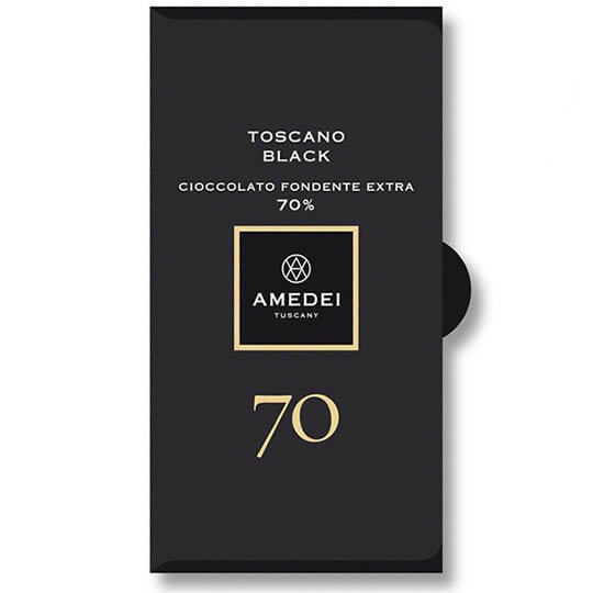 Amedei Chocolate Toscano Black 70% Cocoa Dark Chocolate Bar