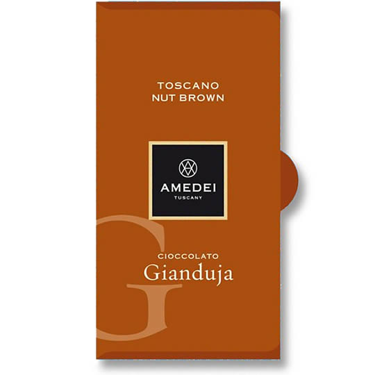 Amedei Toscano Brown Gianduja Milk Chocolate Bar
