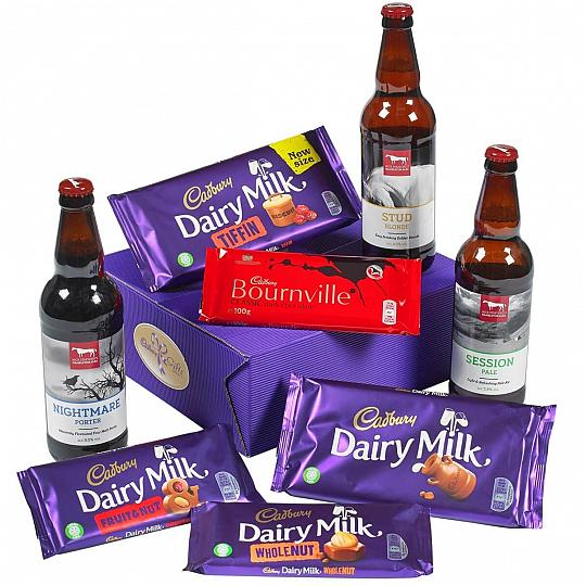 Cadbury Chocolate Bars & Beers Gift Set