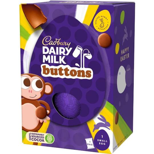 Cadbury Dairy Milk Buttons Small Easter Egg