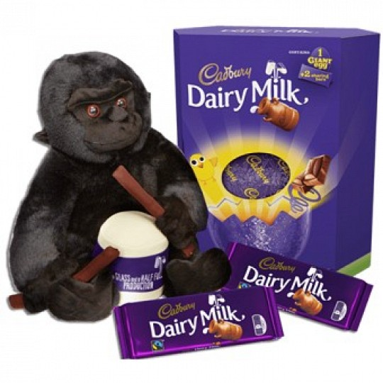 Cadbury Dairy Milk Giant Easter Egg & Cadbury Gorilla