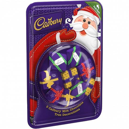 Cadbury Dairy Milk Chocolate Christmas Tree Decorations
