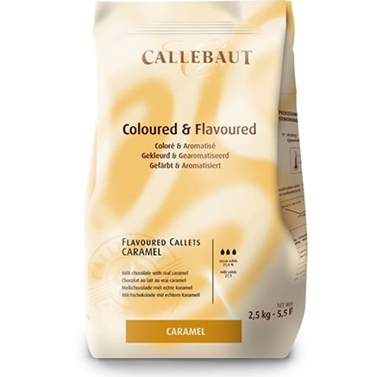 Callebaut Coloured & Flavoured Callets Caramel Chocolate Chips 2.5kg