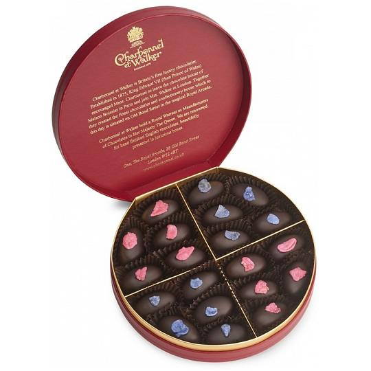 Charbonnel et Walker English Rose And Violet Creams Chocolate Box 245g