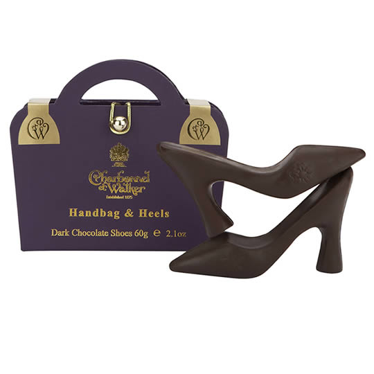 Charbonnel et Walker Handbag & Heels Dark Chocolate Shoes