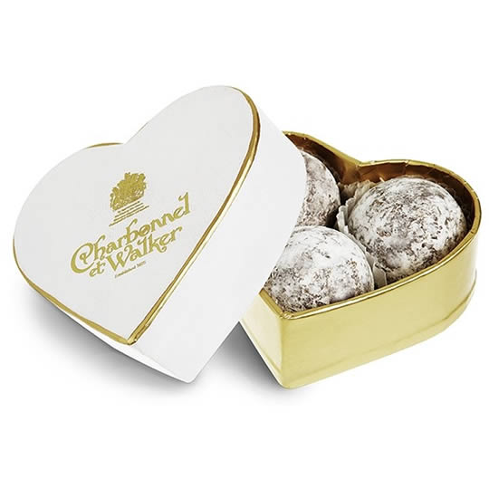 Charbonnel et Walker Champagne Chocolate Truffles Mini Heart