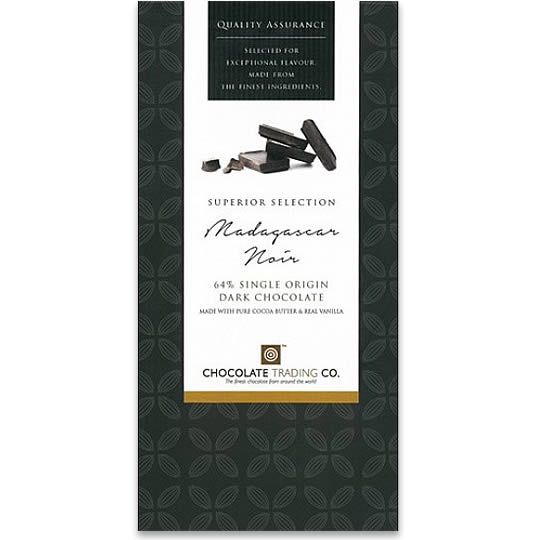 Chocolate Trading Co. Superior Selection Madagascar 64% Cocoa Dark Chocolate Bar
