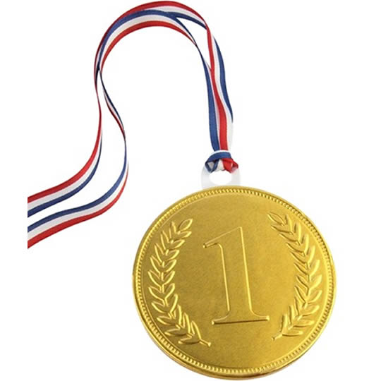 Chocolate Trading Co. Milk Chocolate 1st Place Gold Medal 75mm