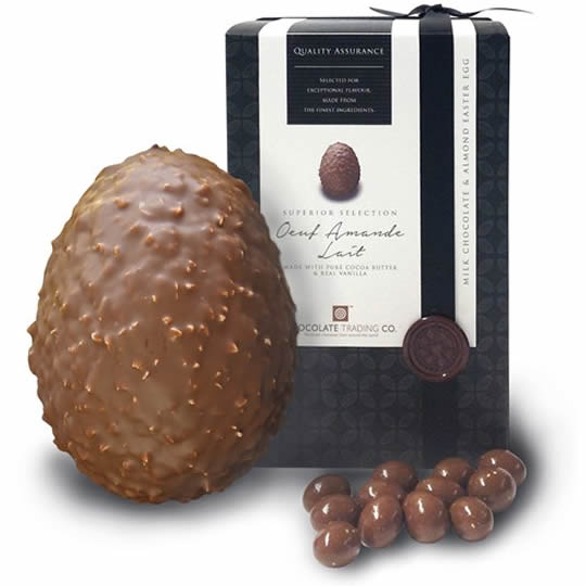 Chocolate Trading Co. Milk Chocolate Easter Egg, Oeuf Amande
