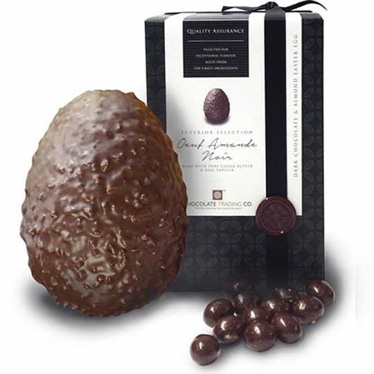 Chocolate Trading Co. Dark Chocolate Easter Egg, Oeuf Amande