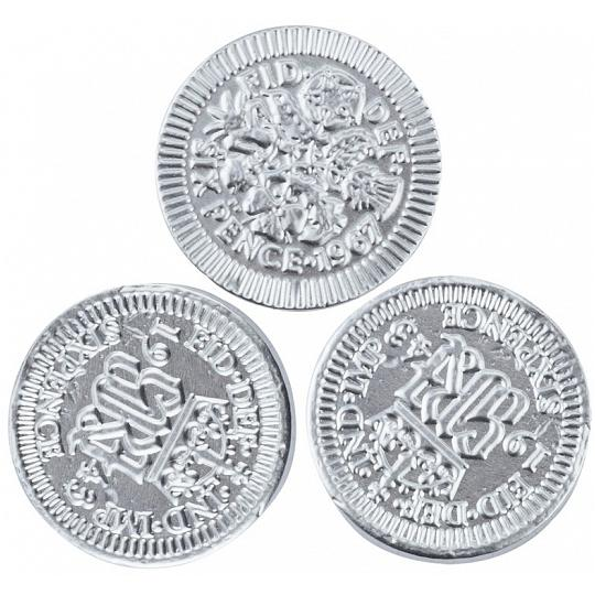 Chocolate Trading Co. Silver Sixpence Milk Chocolate Coins
