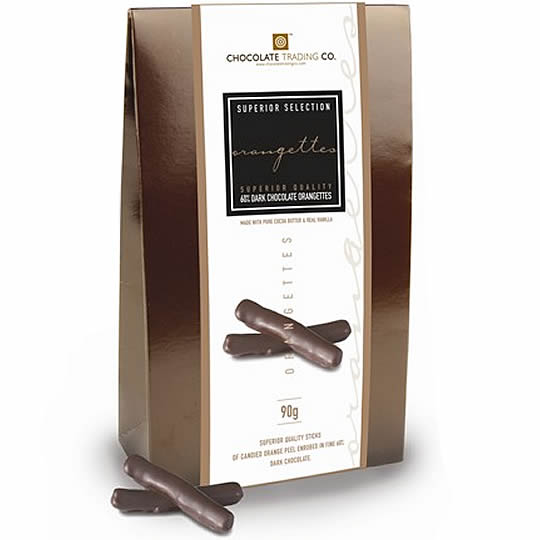 Chocolate Trading Co. Superior Selection orangettes 60% Dark Chocolate Orangettes