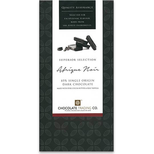 Chocolate Trading Co. Superior Selection Afrique 85% Cocoa Dark Chocolate Bar