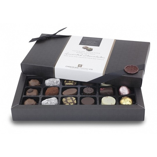 Chocolate Trading Co. Superior Selection 18 Dark, Milk & White Assorted Chocolates 207g