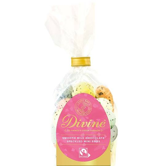 Divine Chocolate Milk Chocolate Speckled Easter Eggs