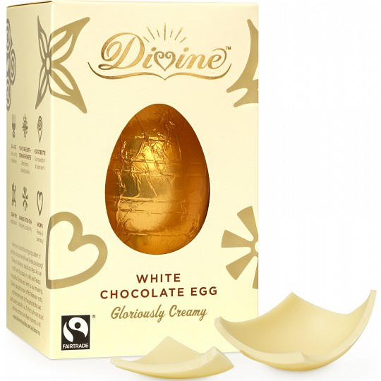 Divine White Chocolate Easter Egg