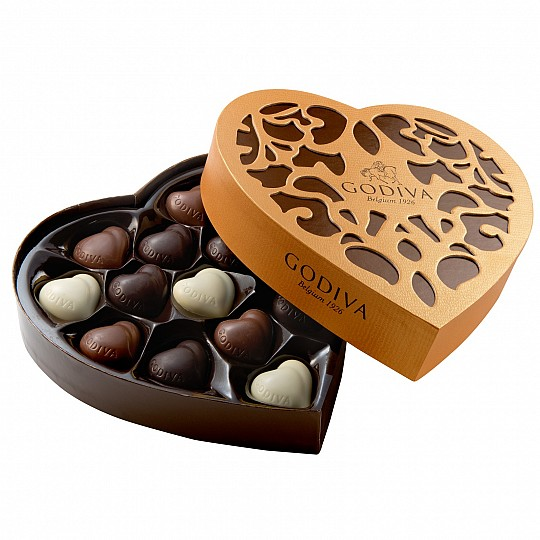 Godiva Coeur Grand 14 Piece Chocolate Box