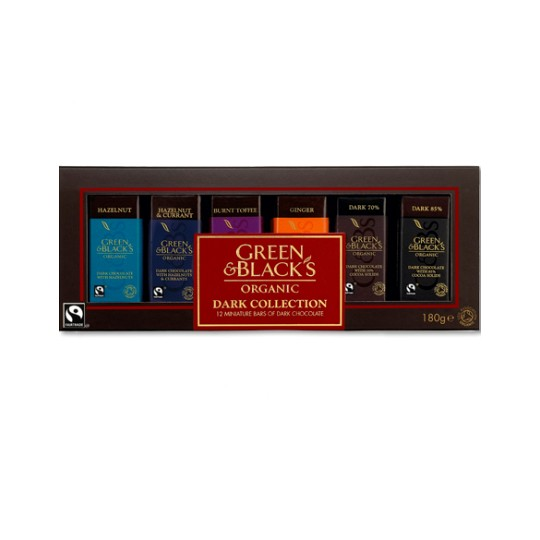 Green & Blacks Dark Chocolate Miniature Bar Collection