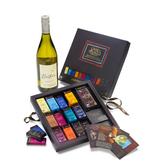 Green & Blacks Chocolate Tasting Collection & Chardonnay