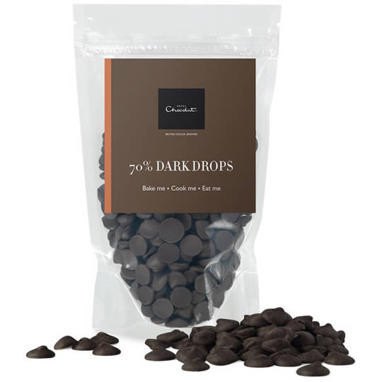 Hotel Chocolat 70% Dark Chocolate Drops