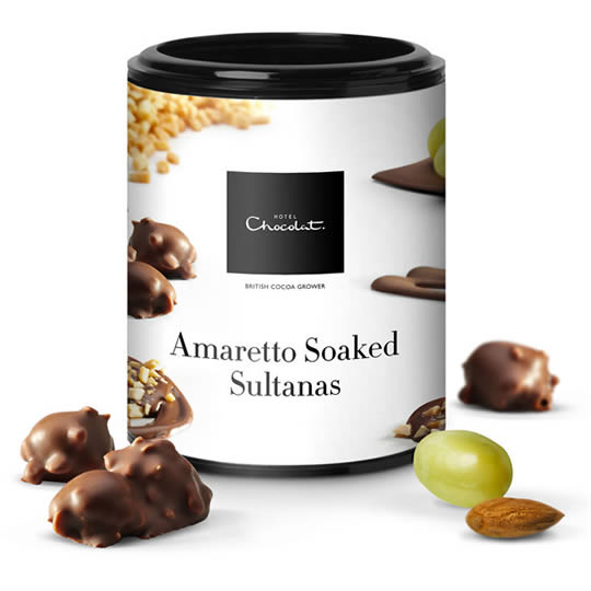 Hotel Chocolat Amaretto Soaked Sultanas Covered in Chocolate