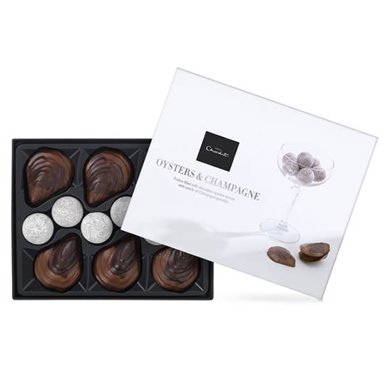 Hotel Chocolat Chocolate Oysters & Champagne Truffles