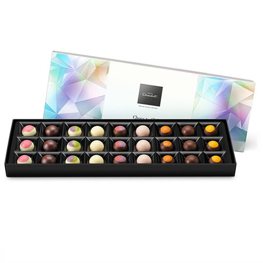Hotel Chocolat Chocs-to-Chill Sleekster Chocolate Box, chocolates with the flavours of  ice creams, milkshakes and smoothies.