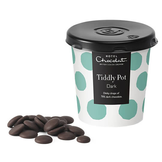 Hotel Chocolat Dark Chocolate Buttons Tiddly Pot