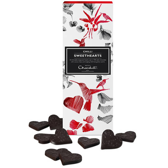 Hotel Chocolat Dark Chocolate Chilli Hearts