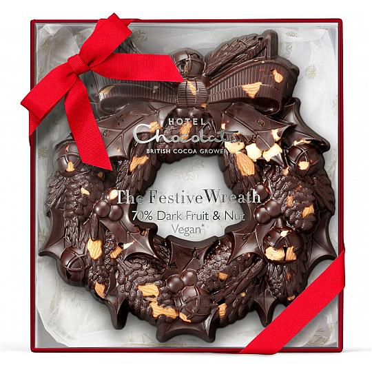 Hotel Chocolat Dark Chocolate Christmas Wreath