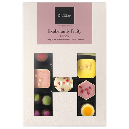 Hotel Chocolat Exuberantly Fruity H-Box Chocolate Box
