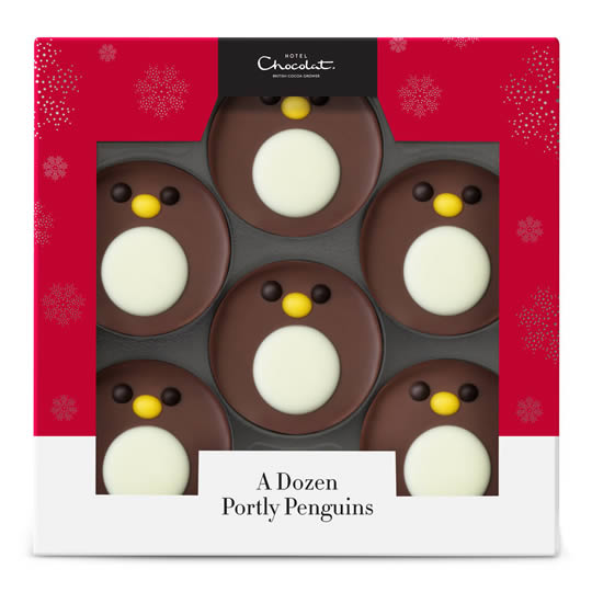 Hotel Chocolat Milk Chocolate Portly Penguins