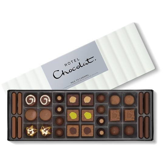Hotel Chocolat Milk to Caramel Chocolate Selection Chocolate Box Sleekster