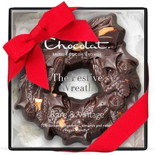 Hotel Chocolat Small Dark Chocolate Christmas Wreath