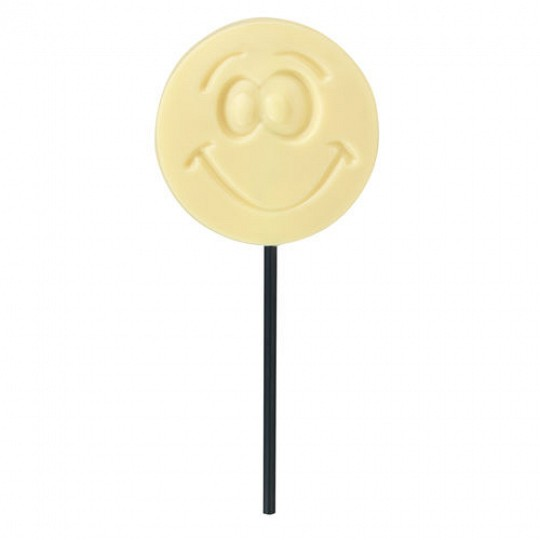 Hotel Chocolat White Chocolate Smiley Lollipop