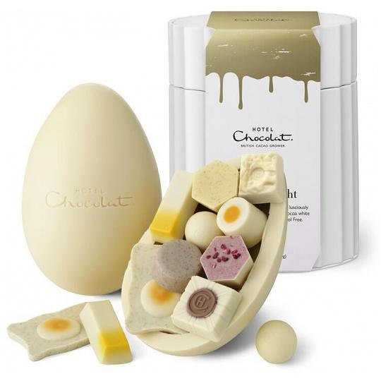 Hotel Chocolat White & Light Chocolate Extra Thick Easter Egg