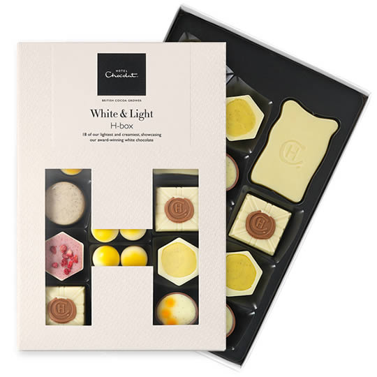 Hotel Chocolat White & Light H-Box Chocolate Box