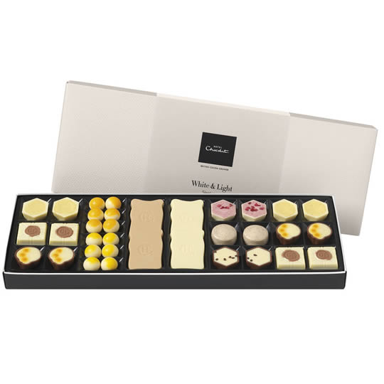 Hotel Chocolat White & Light Sleekster Chocolate Box