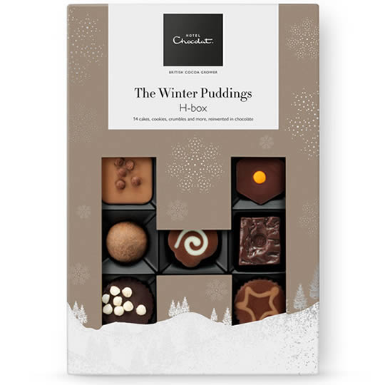 Hotel Chocolat Chocolate Winter Puddings H-Box