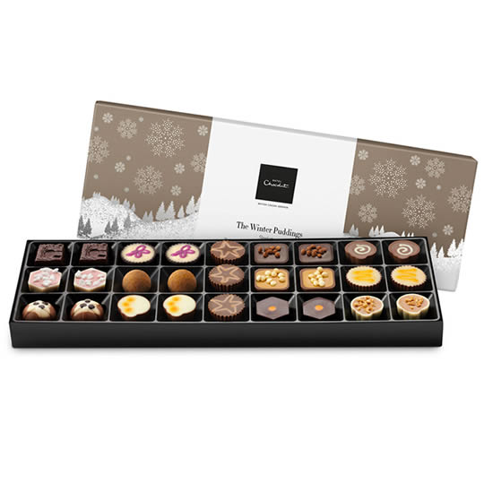 Hotel Chocolat Winter Puddings Chocolate Box