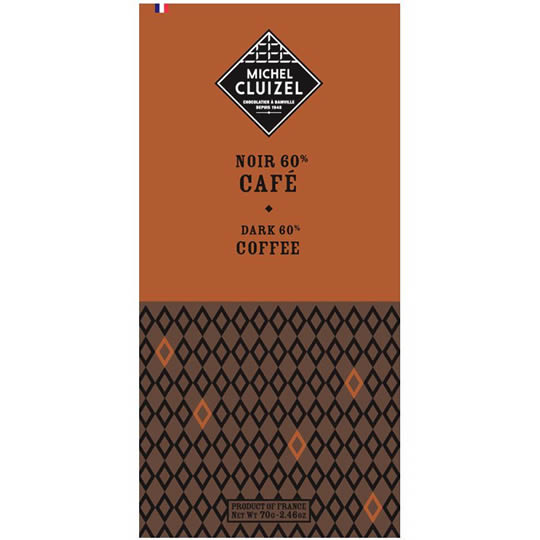 Michel Cluizel Noir au Café 60% Dark Chocolate Bar with Brazillian Coffee
