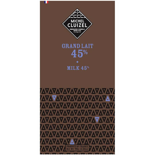 Michel Cluizel Grand Lait 45% Milk Chocolate Bar
