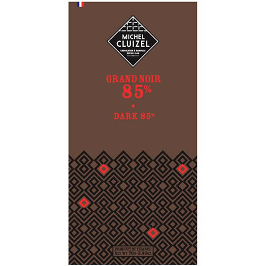 Michel Cluizel Grand Noir 85% Cocoa Dark Chocolate Bar