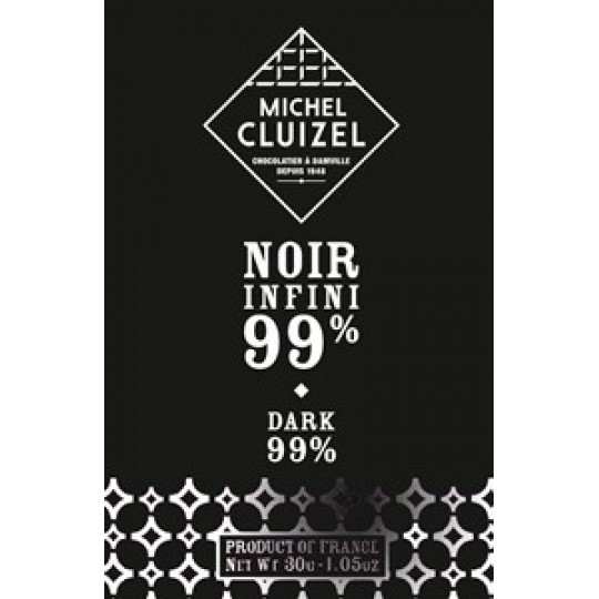 Michel Cluizel Chocolate Noir Infini 99% Cocoa Dark Chocolate Bar
