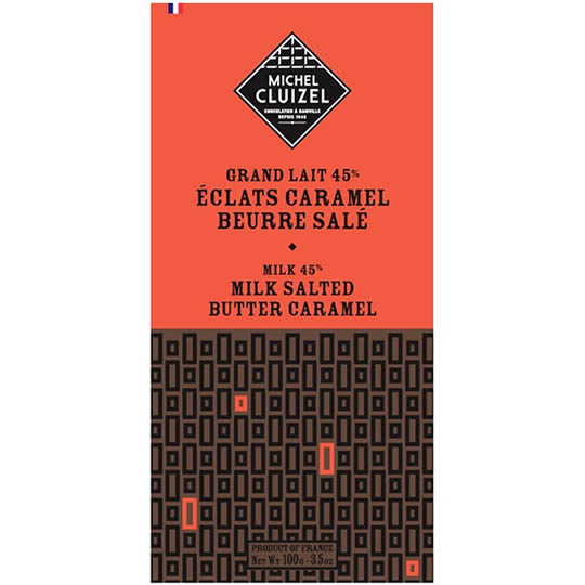 Michel Cluizel Salted Butter Caramel 45% Cocoa Milk Chocolate Bar