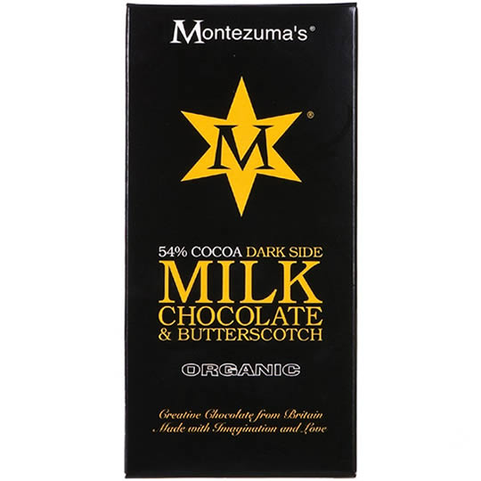 Montezuma's 54% Cocoa Milk Chocolate Bar with Butterscotch